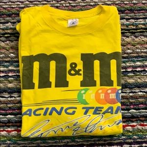 🔥🔥😎 M&M NASCAR Team Racing T Shirt